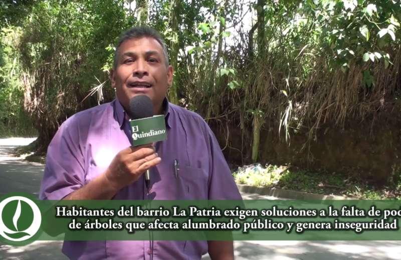 El quindiano soy yo: Barrio La Patria y el alumbrado público