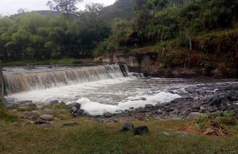 Se investiga el origen de sustancia espumosa sobre aguas del río Quindío
